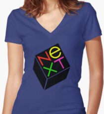 NeXT Computer Women's Fitted V-Neck T-Shirt