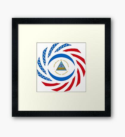 Nicaraguan American Multinational Patriot Flag Series Framed Print
