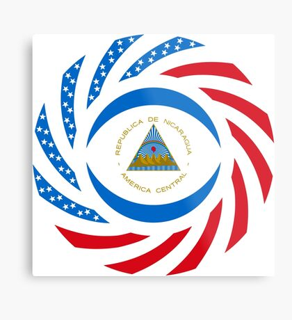 Nicaraguan American Multinational Patriot Flag Series Metal Print