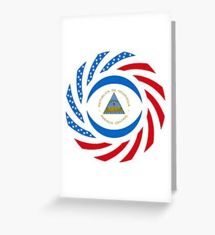 Nicaraguan American Multinational Patriot Flag Series Greeting Card
