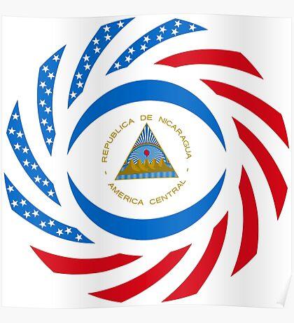Nicaraguan American Multinational Patriot Flag Series Poster