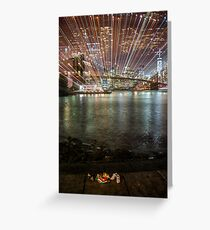 City Warp and Shoes Greeting Card