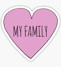 Ich liebe meine Familie Sticker