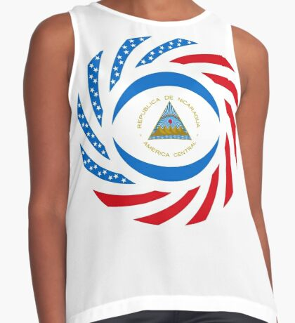 Nicaraguan American Multinational Patriot Flag Series Sleeveless Top