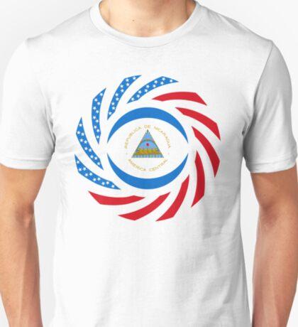 Nicaraguan American Multinational Patriot Flag Series T-Shirt