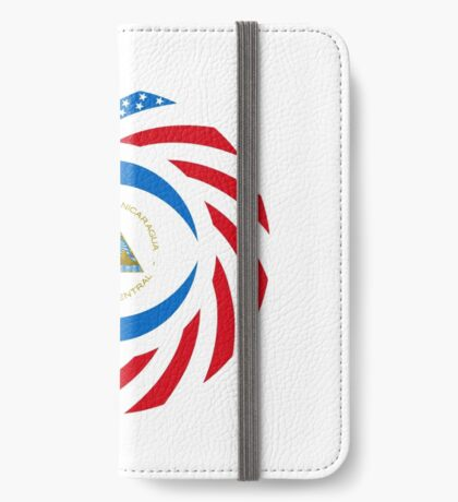 Nicaraguan American Multinational Patriot Flag Series iPhone Wallet