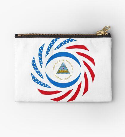 Nicaraguan American Multinational Patriot Flag Series Zipper Pouch