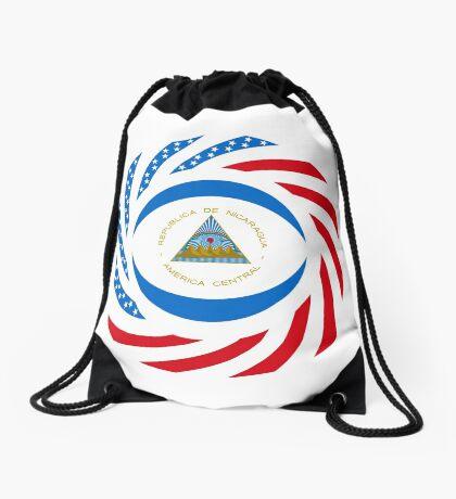 Nicaraguan American Multinational Patriot Flag Series Drawstring Bag