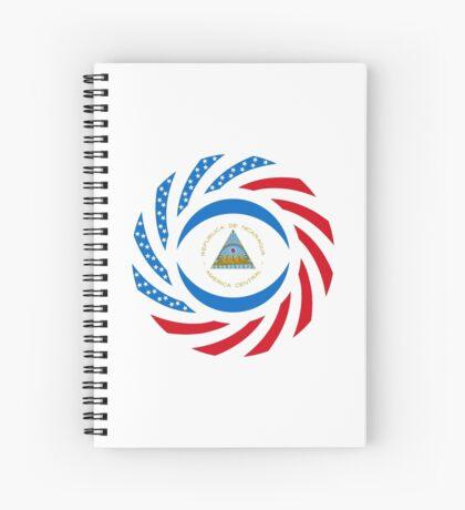 Nicaraguan American Multinational Patriot Flag Series Spiral Notebook