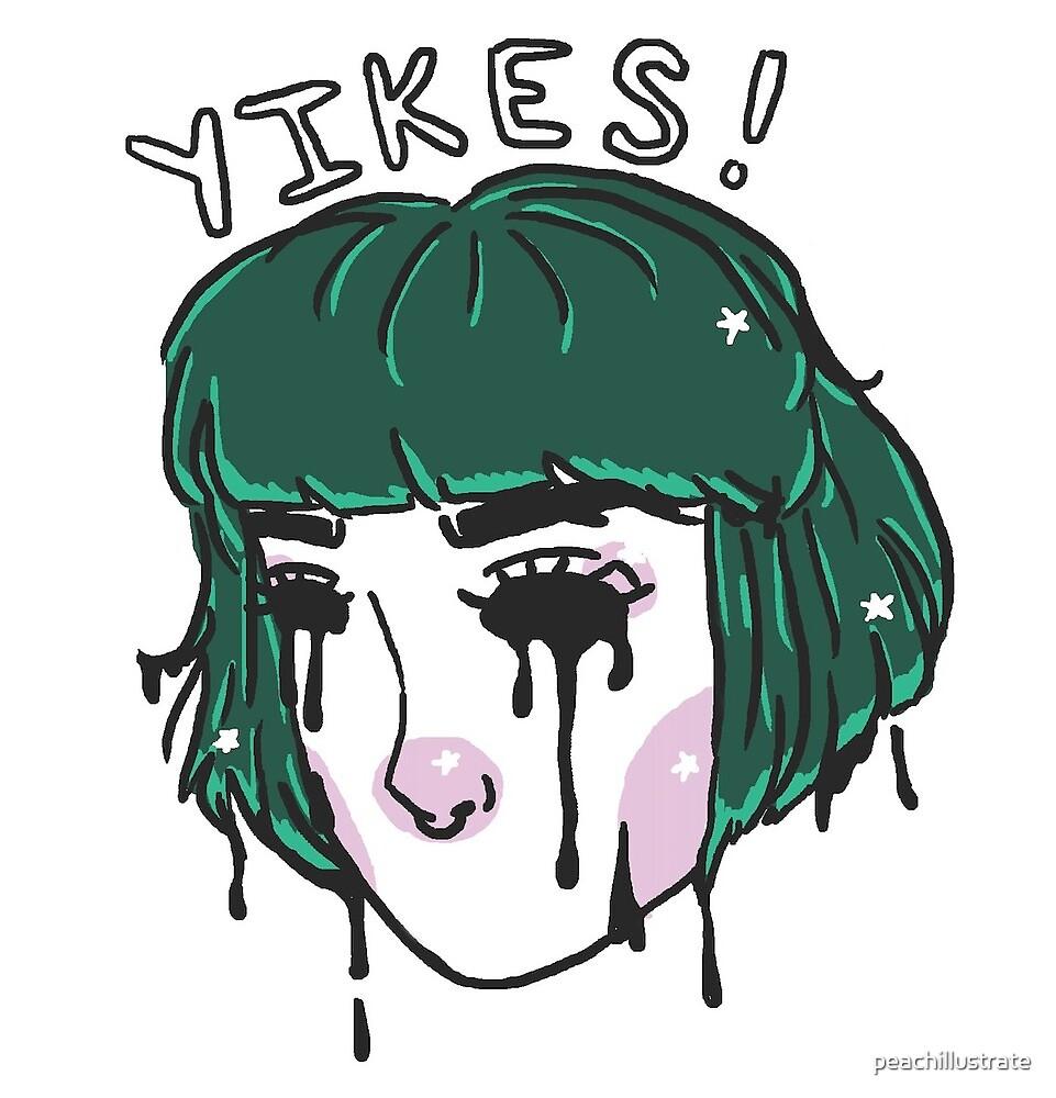 Yikes Fille De Pixel De Cheveux Verts Mignons Par