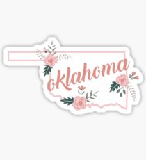 Floral Oklahoma Roses Sticker