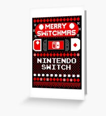 MERRY SWITCHMAS UGLY SWEATER Greeting Card