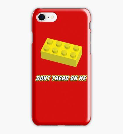 Don't Tread On Me Block iPhone Case/Skin