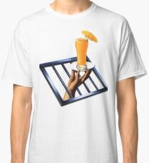 Hand Holding Orange Juice Classic T-Shirt