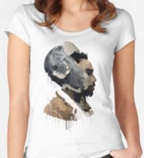 Gambino Droplet No Background Women's Fitted Scoop T-Shirt