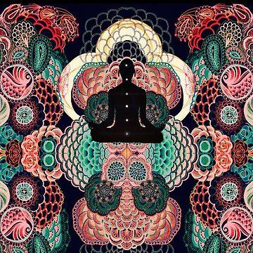 Spiritual chakra meditation pattern by violenxe
