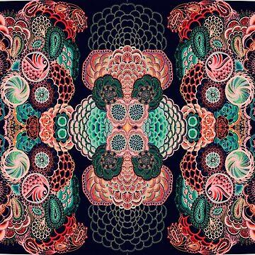 Intricate mendala pattern art by violenxe
