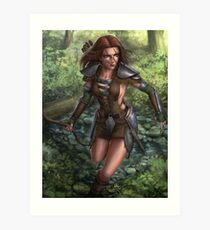 Aela the huntress Art Print