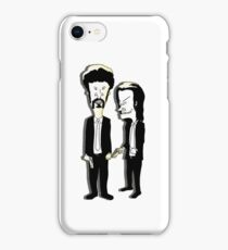 Beavis and Butthead as Jules and Vincent in Pulp Fiction iPhone Case/Skin