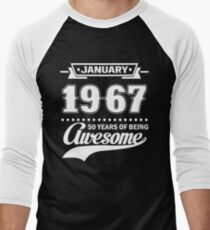 January 1967 50 Years Of Being Awesome T-Shirt