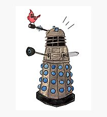 Cardinal vs Dalek Photographic Print