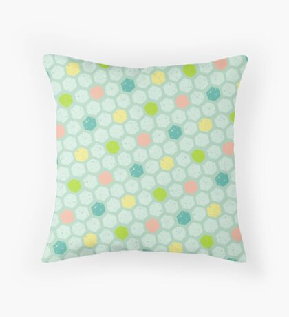 Pastel Honeycomb Pattern Throw Pillow