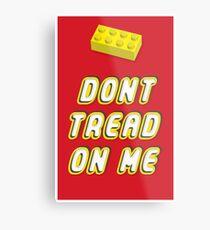 Don't Tread On Me Block Metal Print