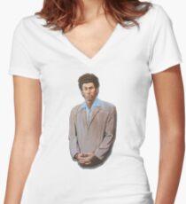 Kramer painting from Seinfeld Women's Fitted V-Neck T-Shirt