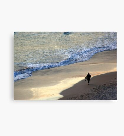 After a hard day at the beach Canvas Print