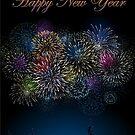 Happy New Year fireworks by EbyArts