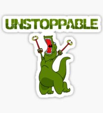 Unstopable T-rex Sticker