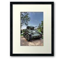 M5 Stuart Light Tank Framed Print