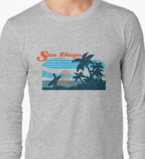 San Diego Surf Scene Long Sleeve T-Shirt