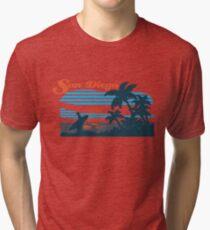 San Diego Surf Scene Tri-blend T-Shirt
