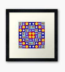 Modular pattern Framed Print