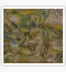 topographical map  Sticker