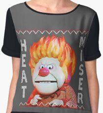 Heat Miser Ugly Sweater Chiffon Top