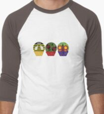 Insect Cupcakes Men's Baseball ¾ T-Shirt