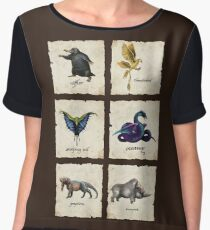 Fantastical Creatures Chiffon Top