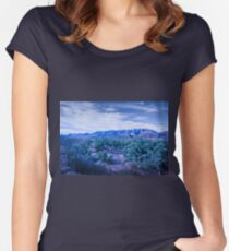 Blue Landscape Women's Fitted Scoop T-Shirt