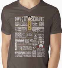 The Wise Words of Dwight Schrute (Dark Tee) Men's V-Neck T-Shirt