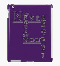 Never Regret iPad Case/Skin