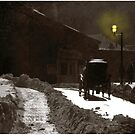 Dusk Carriage Quebec City by Wayne King