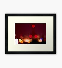 Abstract Bokeh Lights I Framed Print