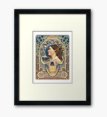Molly Hooper Art Nouveau Framed Print