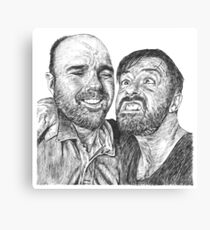 Karl Pilkington & Ricky Gervais - the world need more of em!! Canvas Print