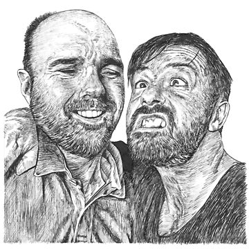 Karl Pilkington & Ricky Gervais - the world need more of em!! by Nasir-Nadzir