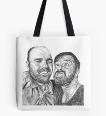 Karl Pilkington & Ricky Gervais - the world need more of em!! Tote Bag