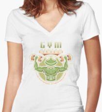 Gym Henson Women's Fitted V-Neck T-Shirt