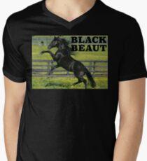 Black Beaut Mens V-Neck T-Shirt